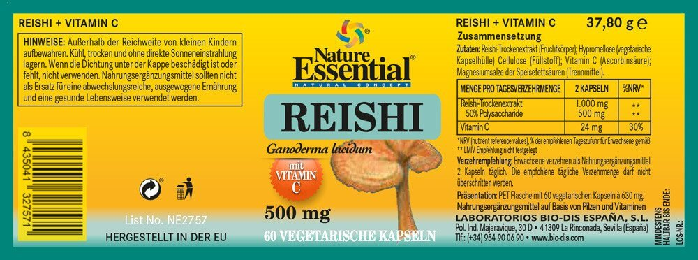 REISHI 1000 + Vitamin C