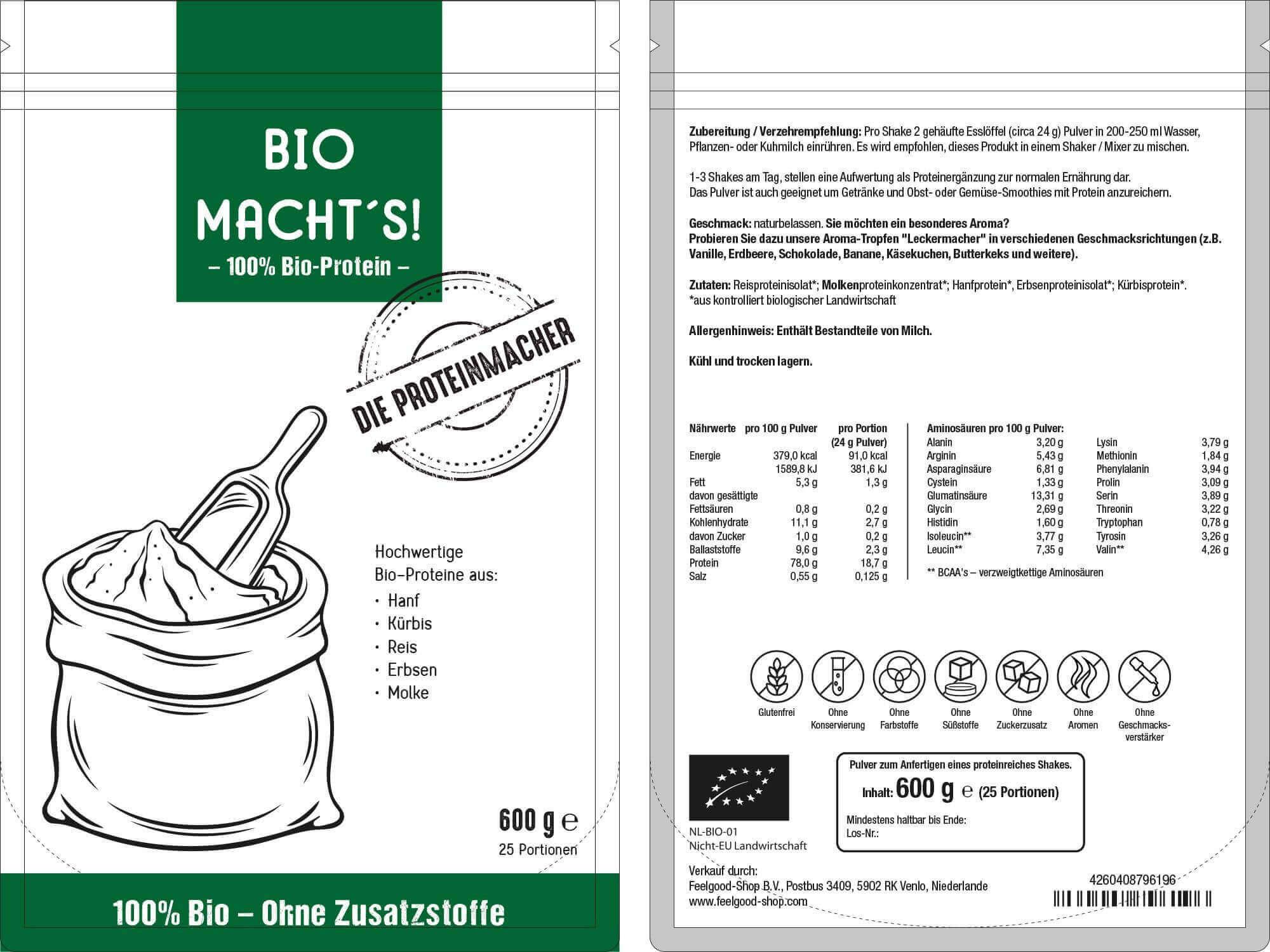 BIO MACHT'S - Bio Proteinpulver