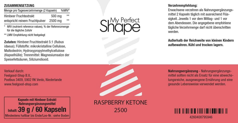 RASPBERRY KETONE 2500 mg