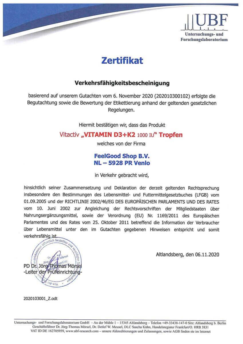 VITAMIN D3 + K2 1000 IU TROPFEN