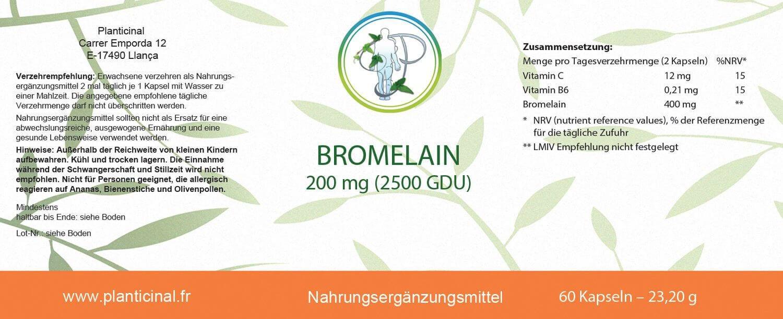BROMELAIN - 2500 GDU