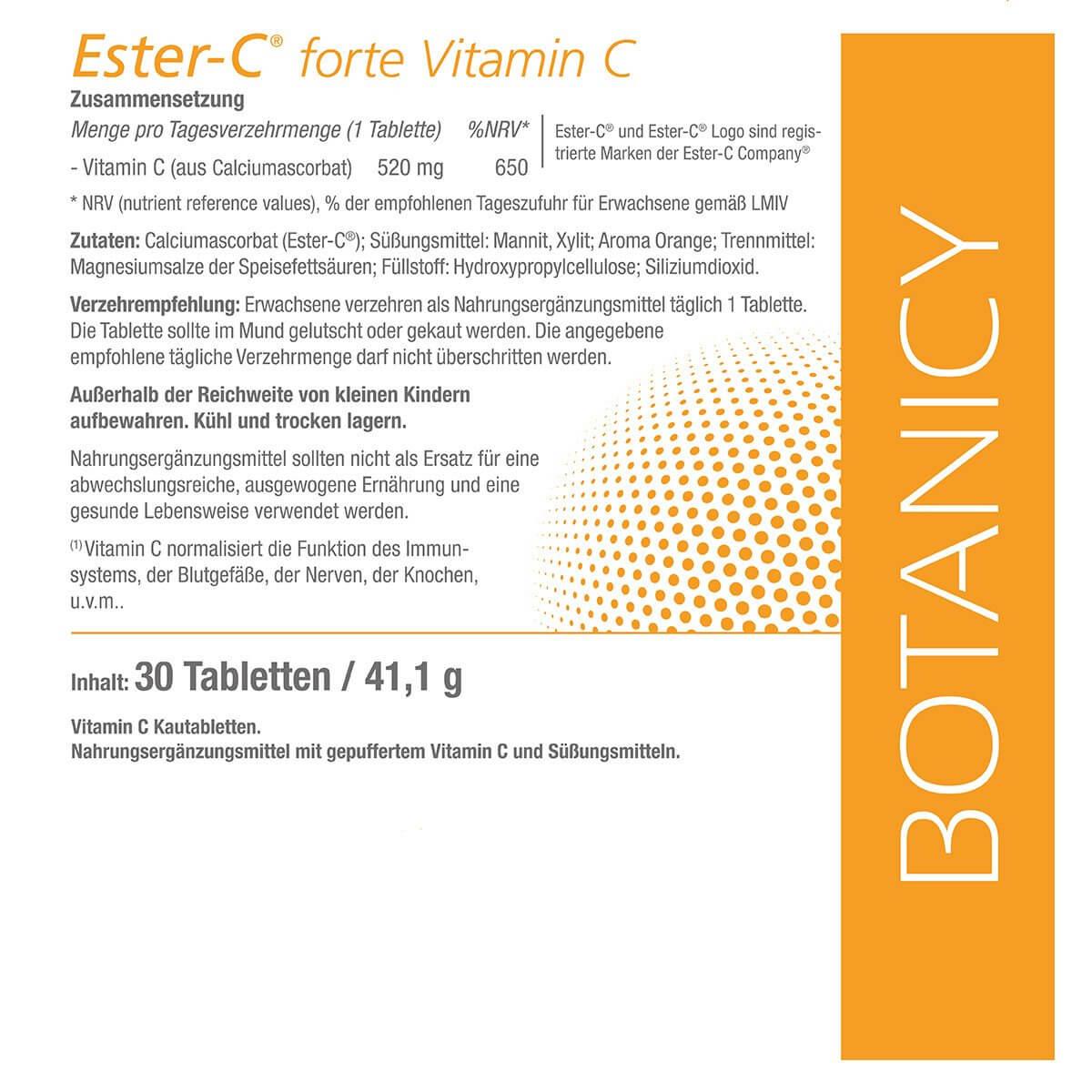 VITAMIN C - Ester-C forte