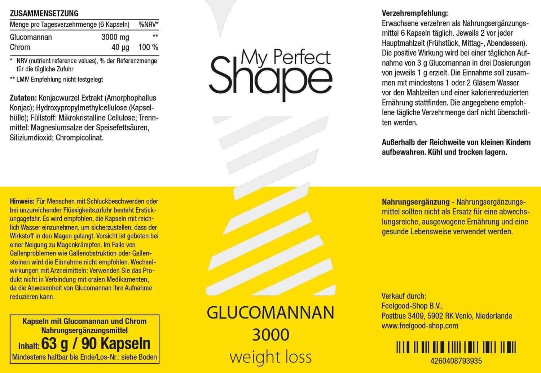GLUCOMANNAN 3000 weight loss
