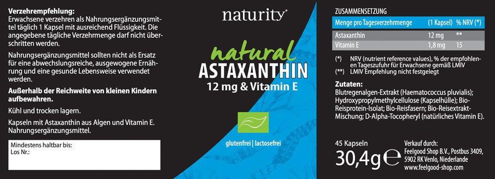 ASTAXANTHIN 12 mg & Vitamin E