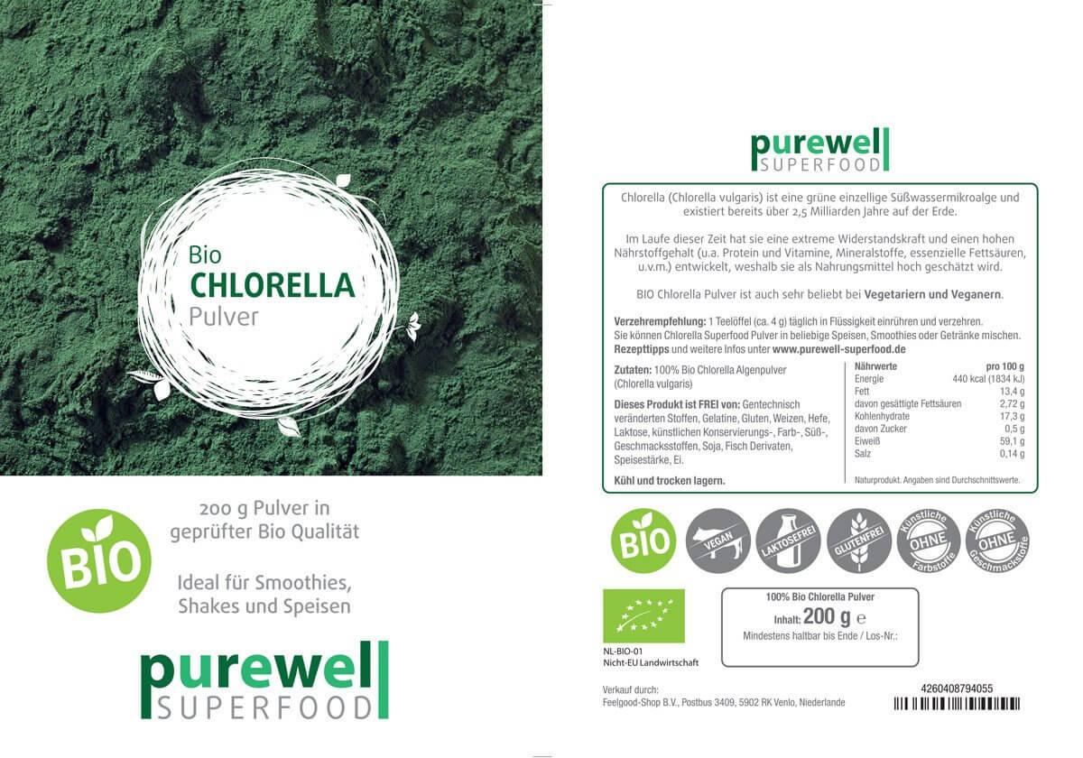 CHLORELLA Pulver - Bio Superfood
