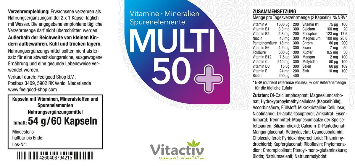 MULTI 50+ Vitamin- & Mineralstoff-Komplex