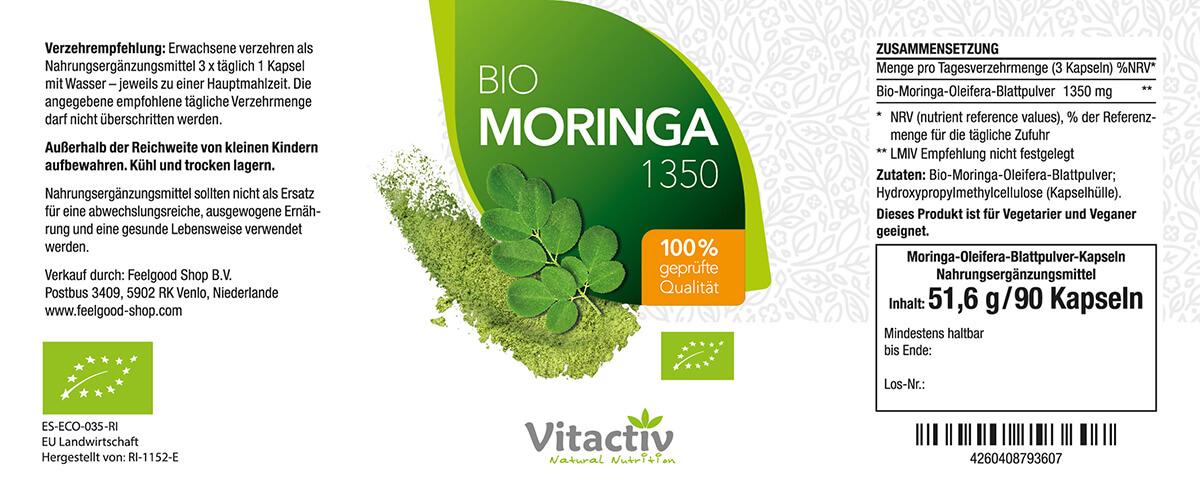 MORINGA 450 mg - BIO