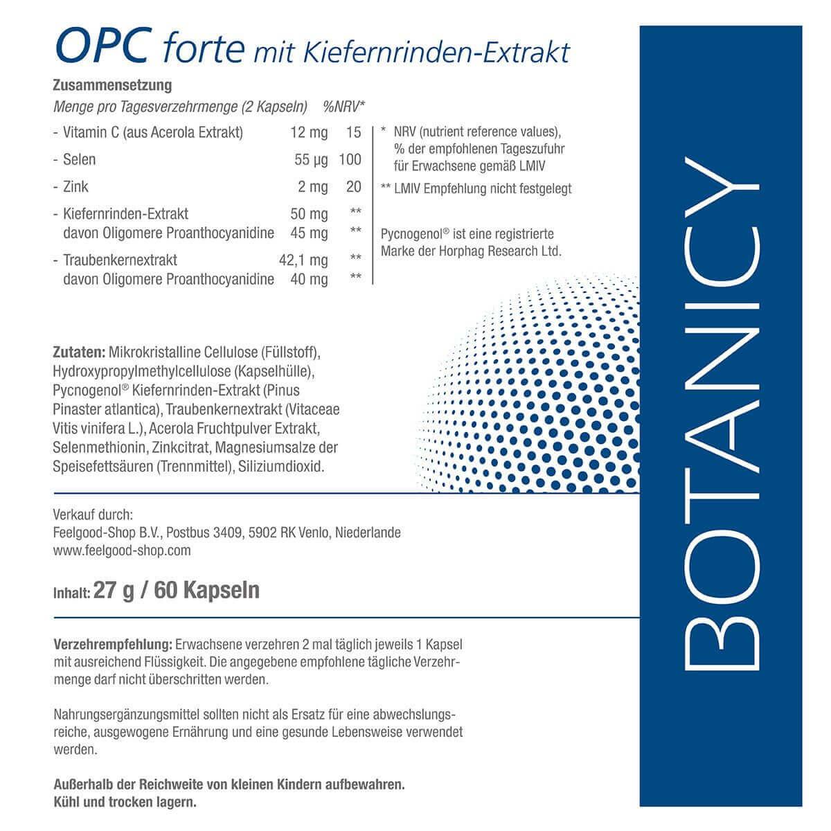 OPC forte mit Pycnogenol