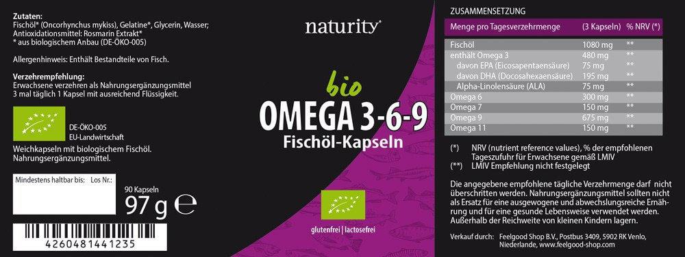 BIO OMEGA 3-6-9 Fischöl-Kapseln