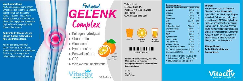 Feelgood GELENK KOMPLEX Sachets