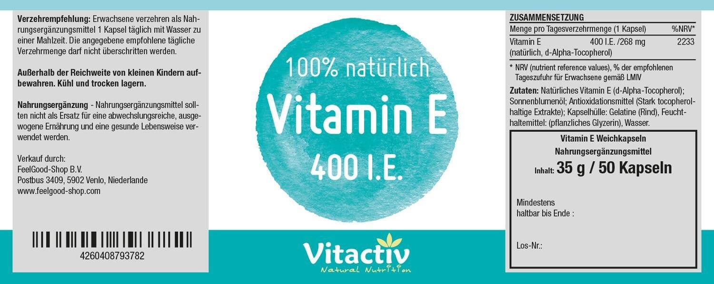 VITAMIN E 400 I.E.