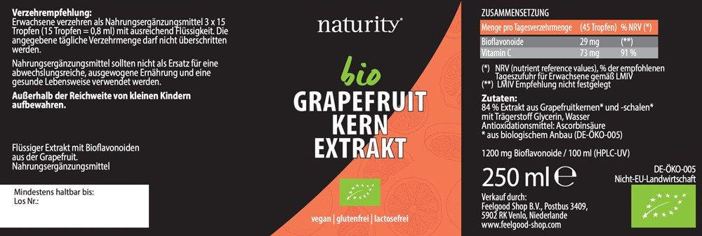 GRAPEFRUIT-KERN-EXTRAKT + Vitamin C 1200 BIO - 250 ml