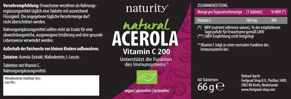 ACEROLA Vitamin C 200