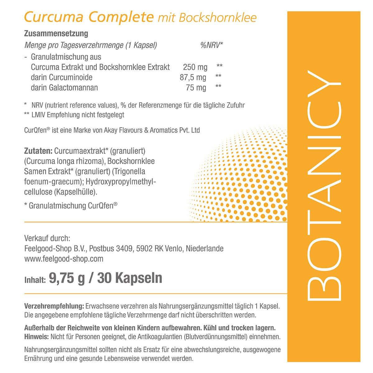 CURCUMA Complete mit Bockshornklee