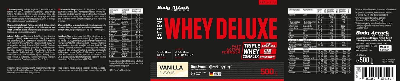 EXTREME WHEY  DELUXE - Vanilla Cream