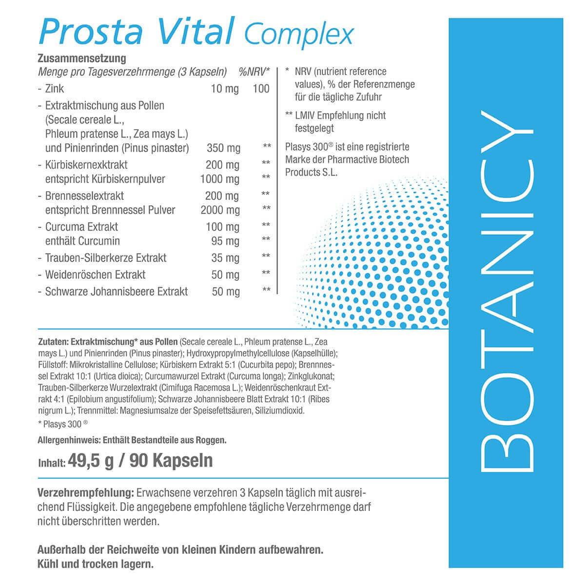PROSTA VITAL Complex mit Plasys 300