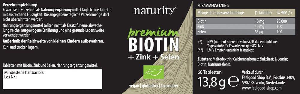 PREMIUM BIOTIN + Zink + Selen