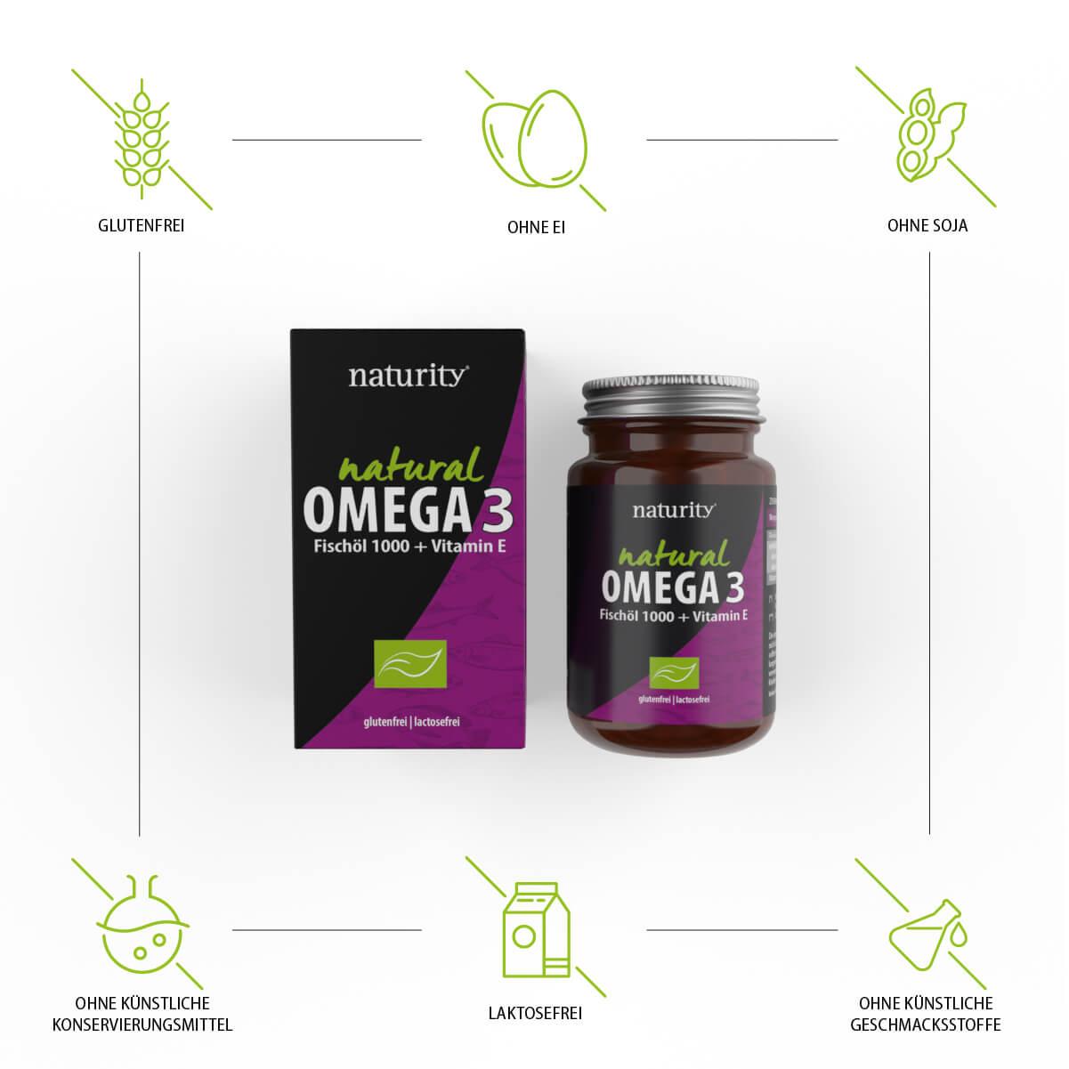 OMEGA 3 Fischöl 1000 + Vitamin E