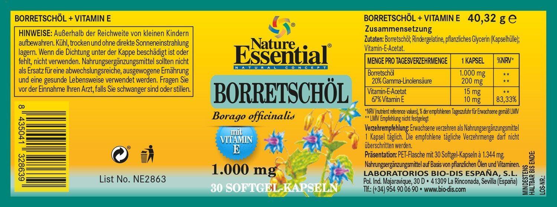 BORRETSCHÖL 1000 + Vitamin E