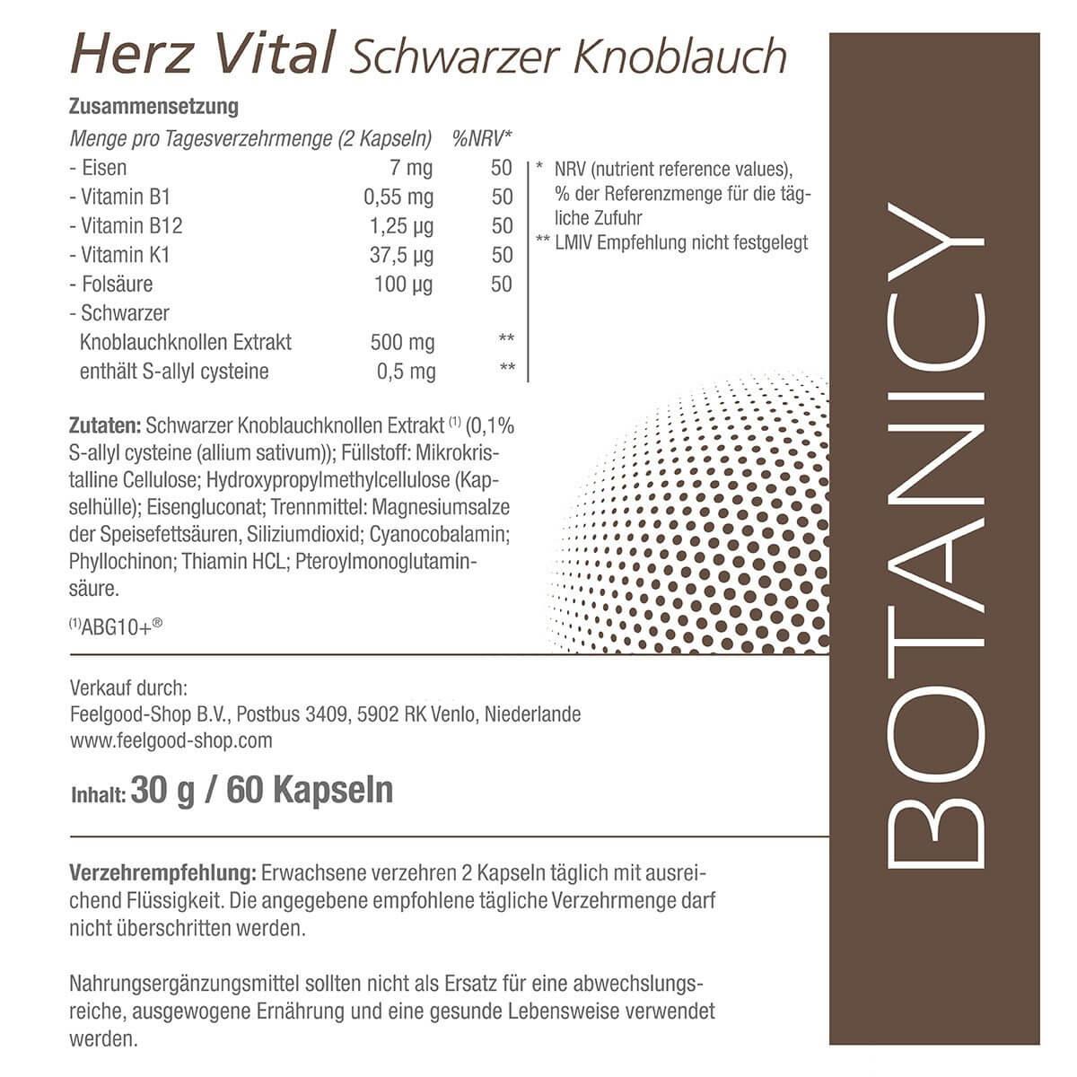 HERZ VITAL - Schwarzer Knoblauch