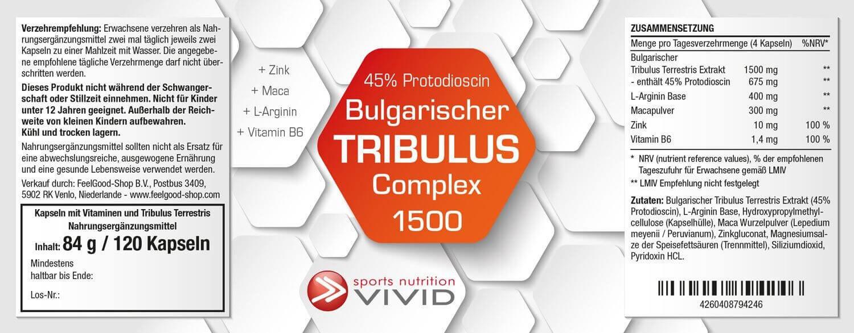 Bulgarischer TRIBULUS COMPLEX 1500