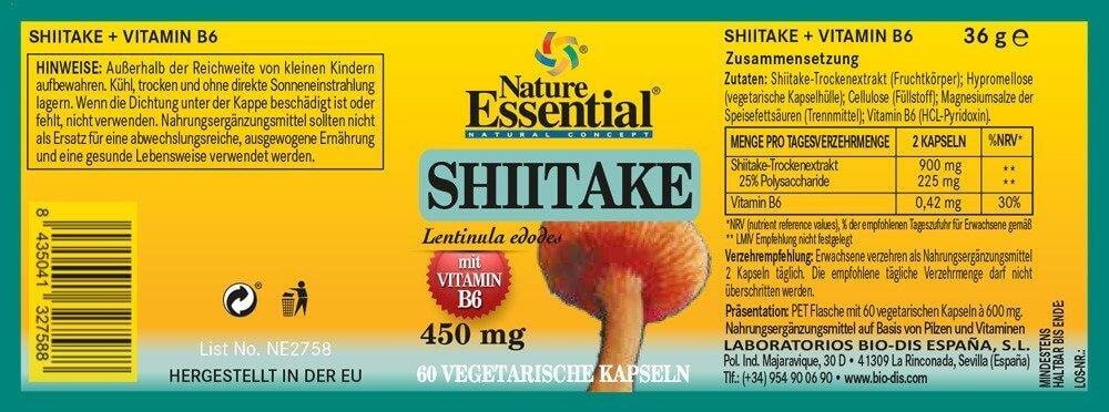 SHIITAKE 1100 + Vitamin B6
