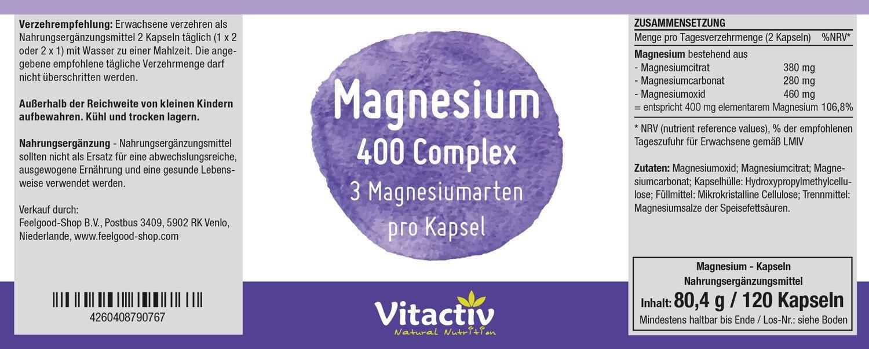 MAGNESIUM 400 mg Complex