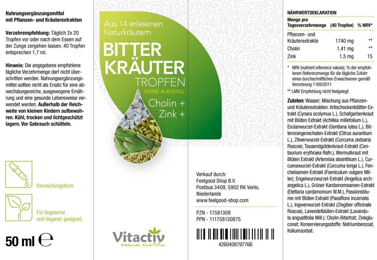 BITTERKRÄUTER – ohne Alkohol