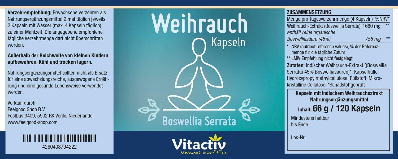 WEIHRAUCH Boswellia Serrata