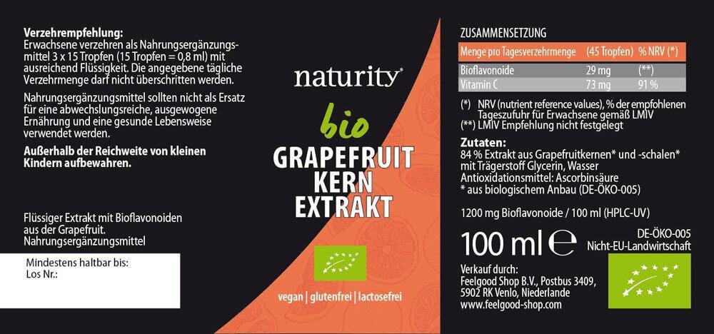 GRAPEFRUIT-KERN-EXTRAKT + Vitamin C 1200 BIO - 100 ml