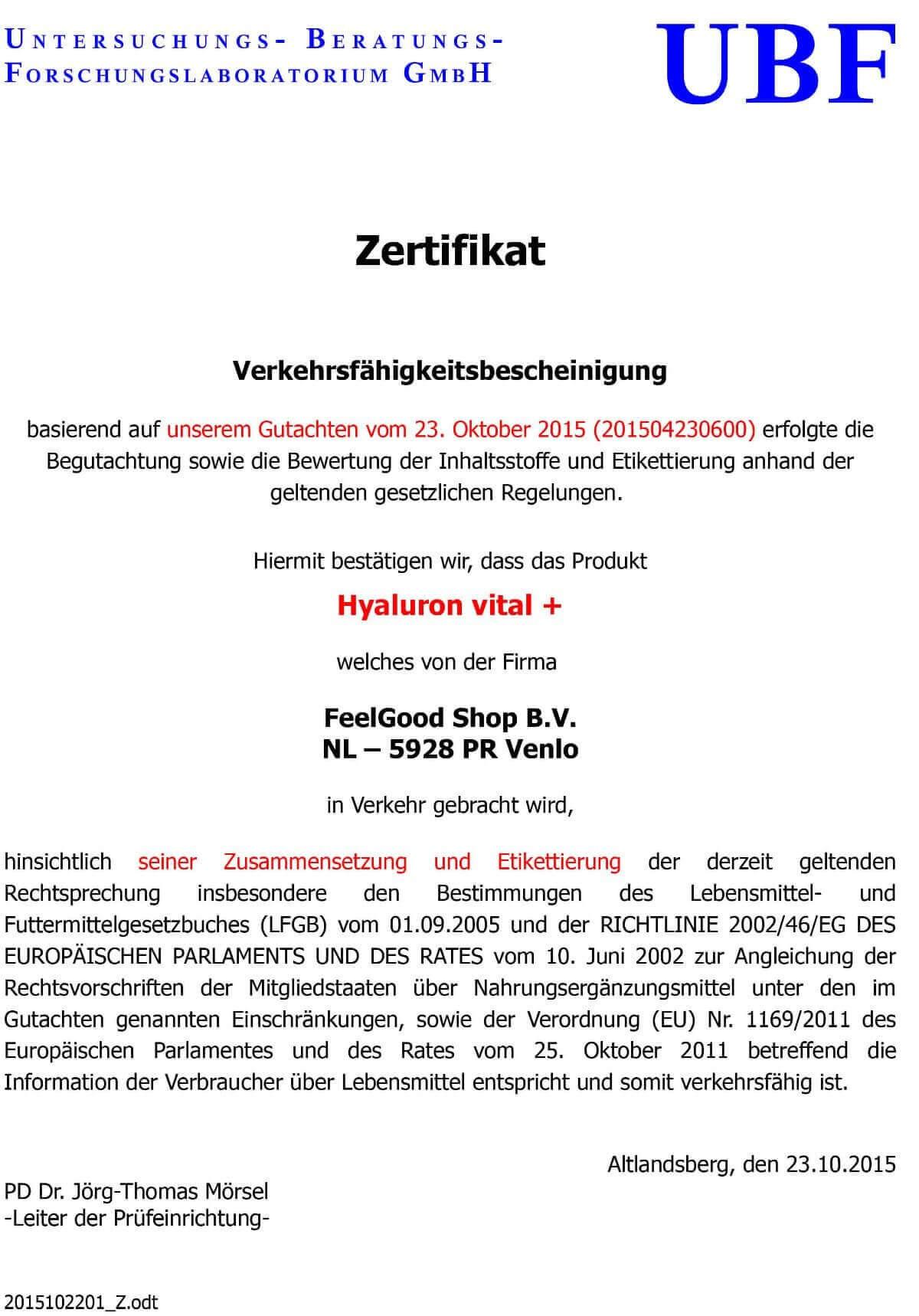 HYALURON VITAL PLUS Kapseln