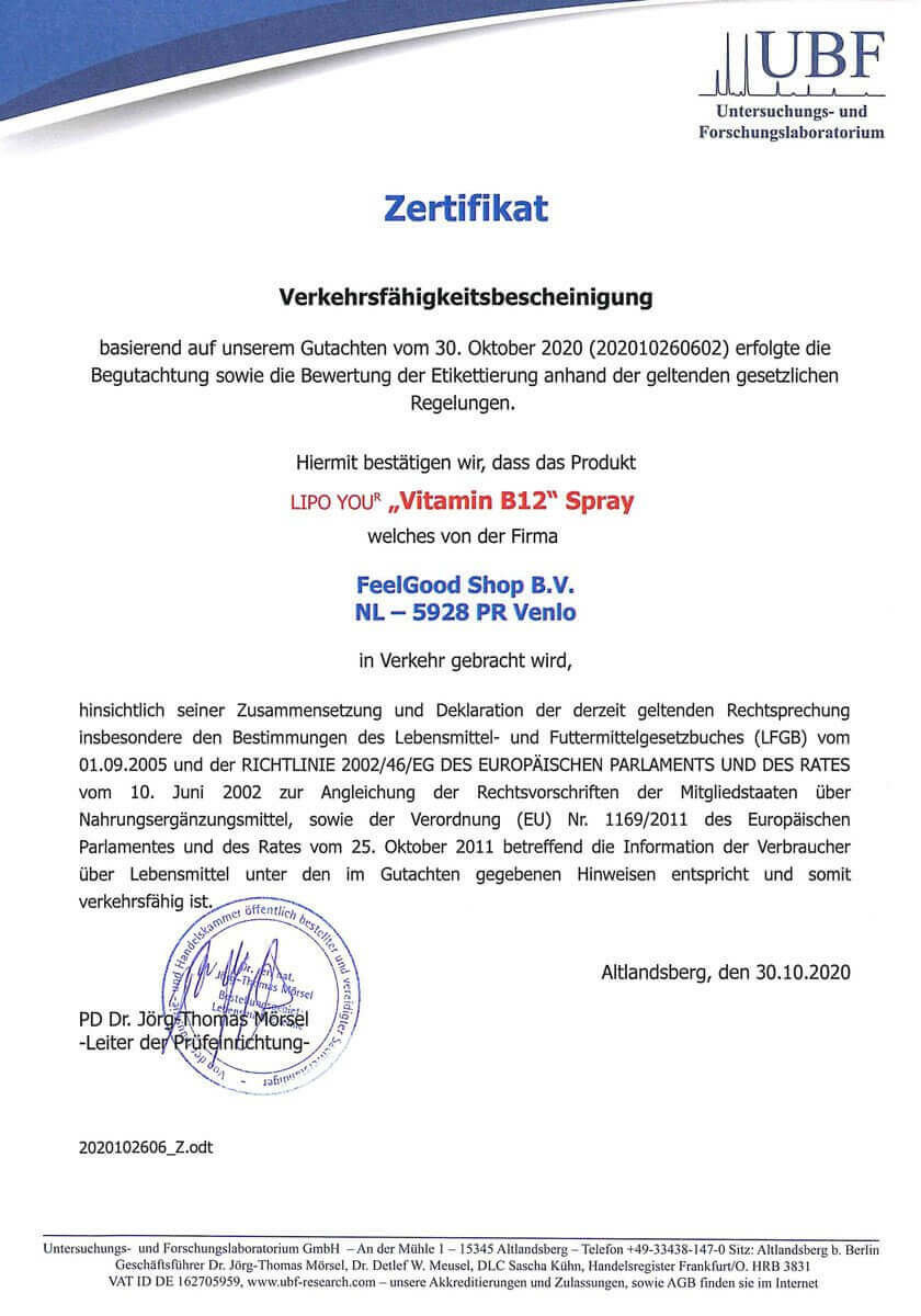 LIPOSOMAL VITAMIN-B12-Spray