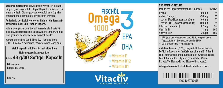 Fischöl Omega 3 1000
