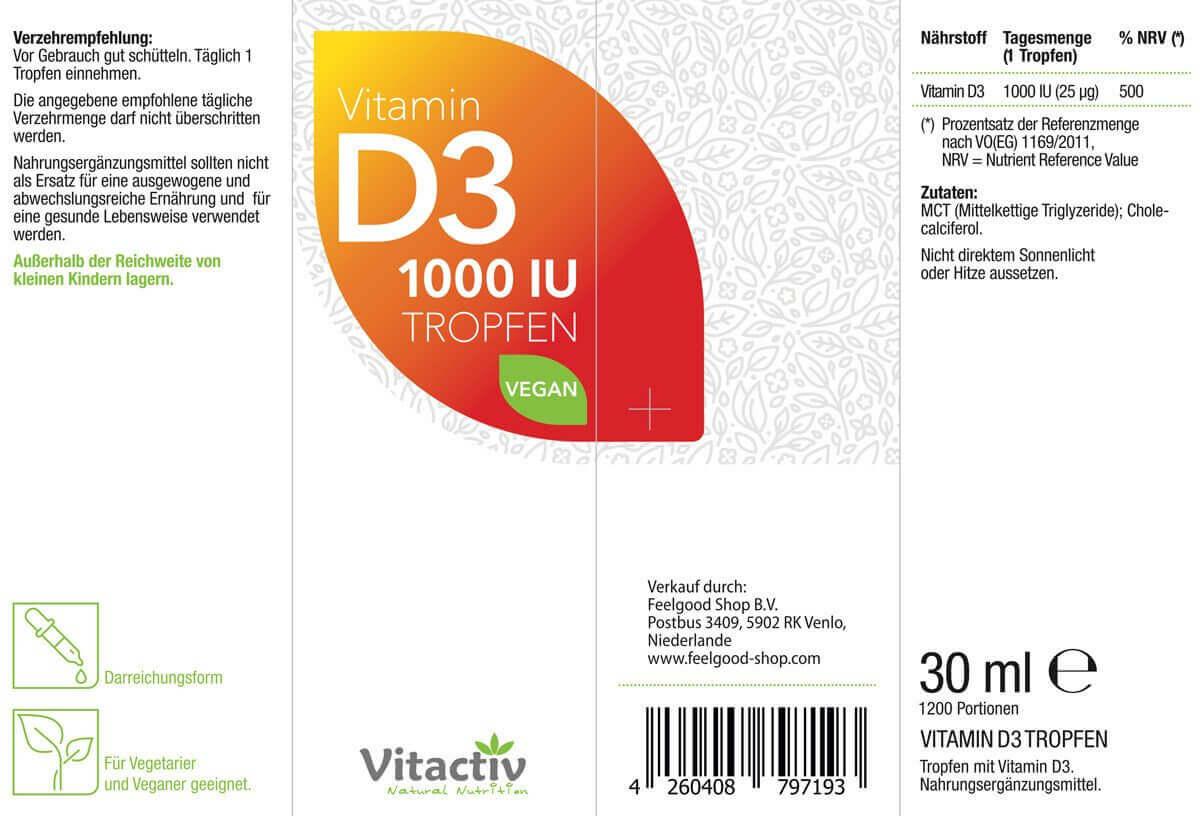 VITAMIN D3 1000 IU TROPFEN