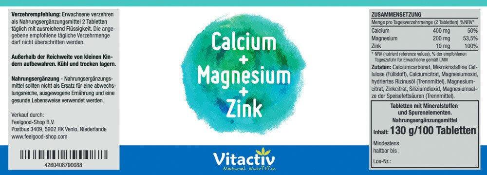 CALCIUM + MAGNESIUM + ZINK