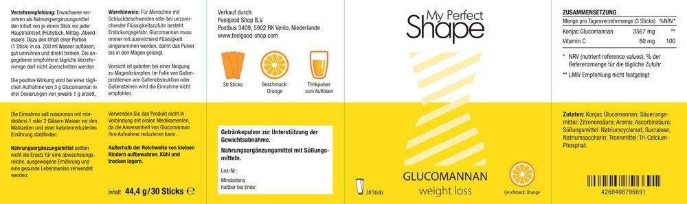 GLUCOMANNAN weight loss Sticks - Orange