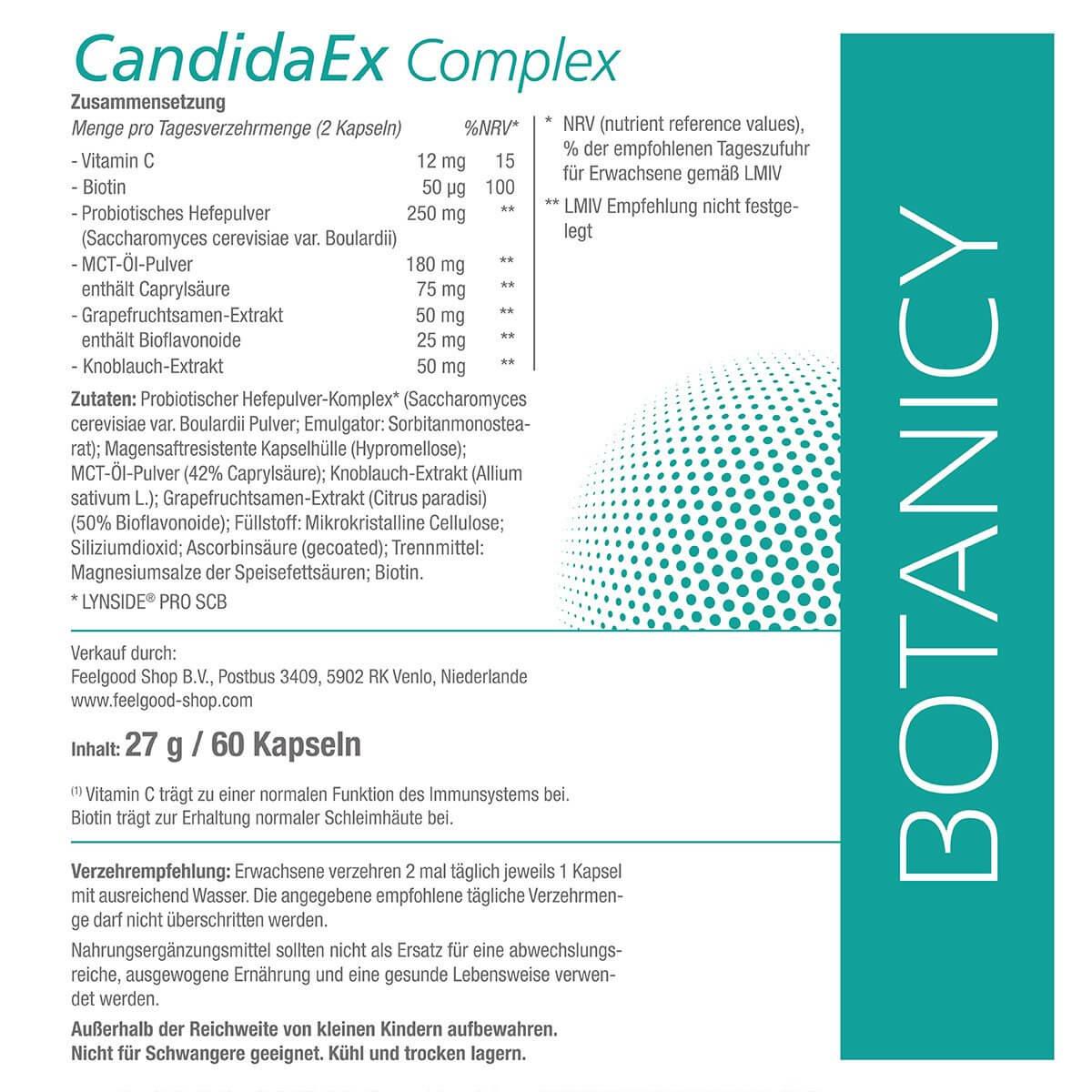 CandidaEx Complex mit LYNSIDE