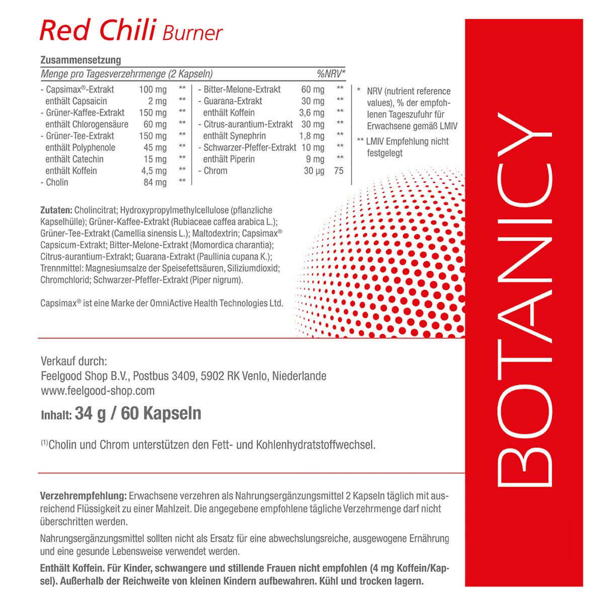RED CHILI BURNER mit Capsimax