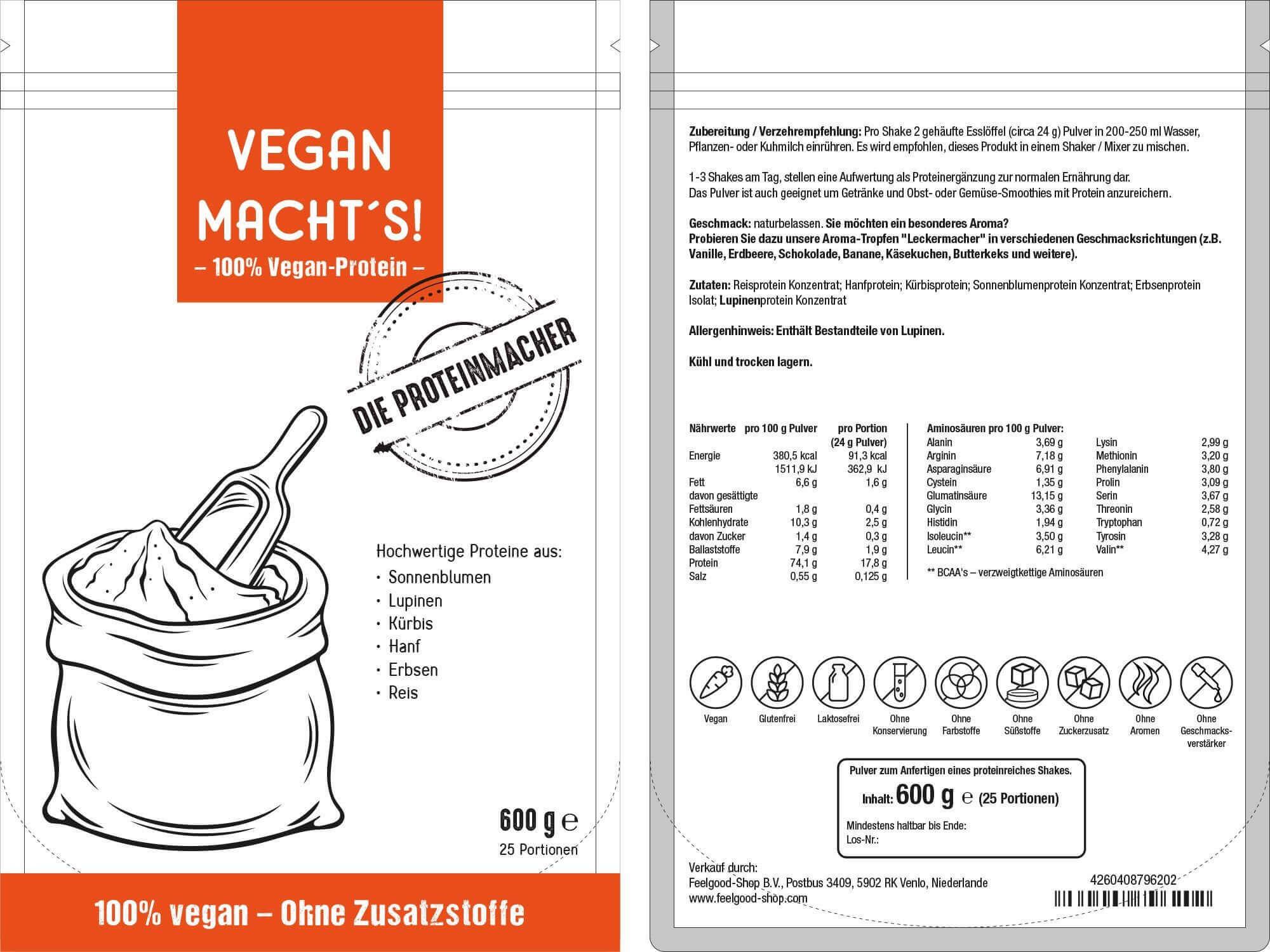 VEGAN MACHT'S - Veganes Proteinpulver