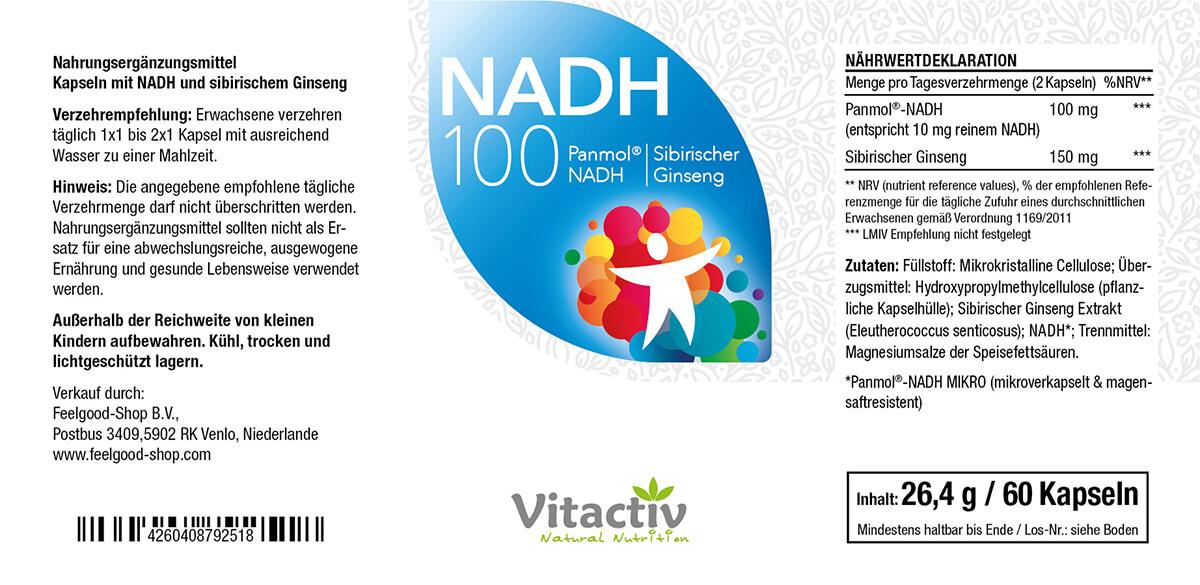 NADH 100 + Ginseng