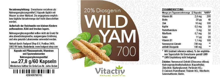 WILD YAM 700 - Anti-Aging