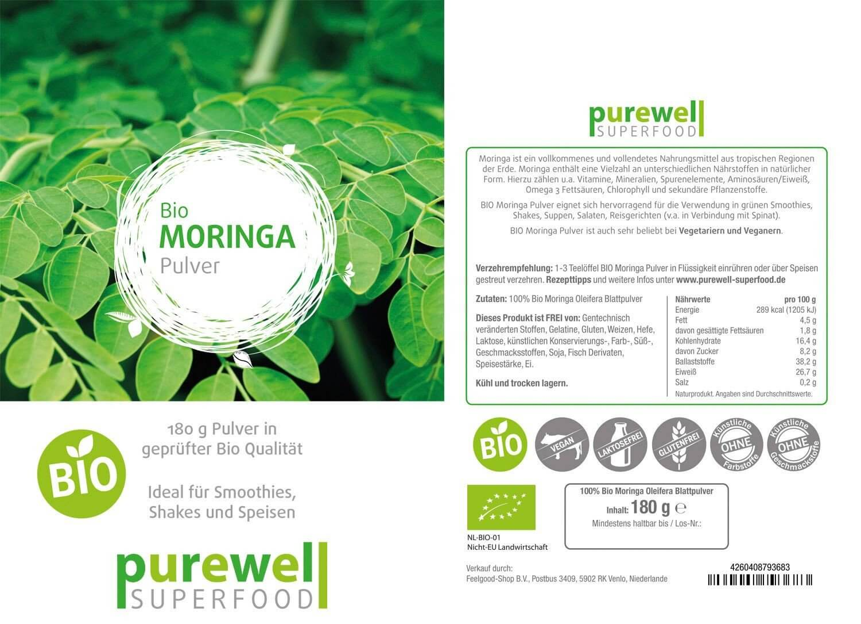 MORINGA Pulver - Bio Superfood