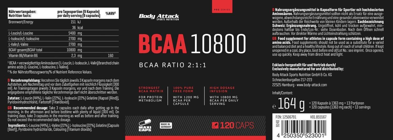BCAA 10800 - Kapseln