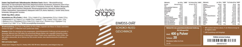 MY PERFECT SHAPE - Eiweiß-Diät-Shake - Schoko-Nuss